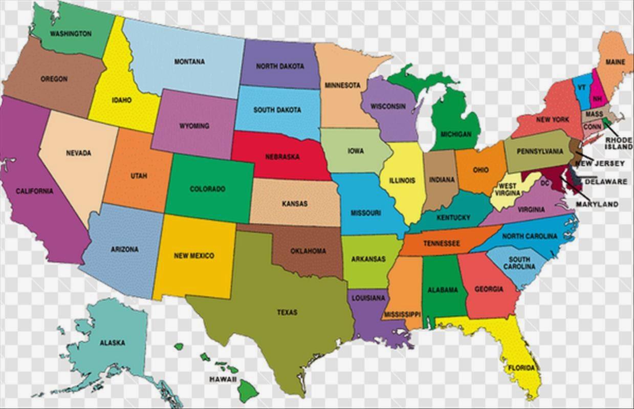 Harta Statelor Unite Ale Americii Euro Sud Tv